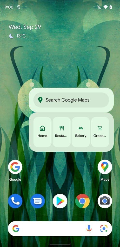 google maps homescreen widget 4