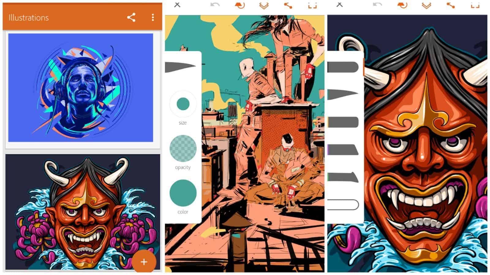 Adobe Illustrator app grid image