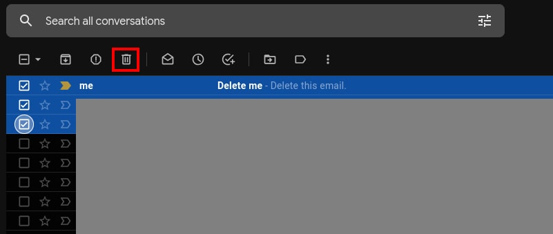 How to delete email Gmail permanently dekstop 3