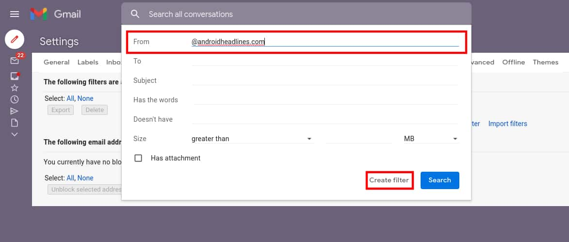 How to whitelist email addresses domains in Gmail 5