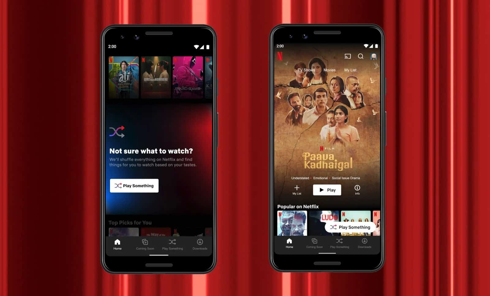 Netflix play something Android 2