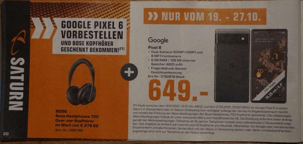 Pixel 6 Leaked Retail Ad