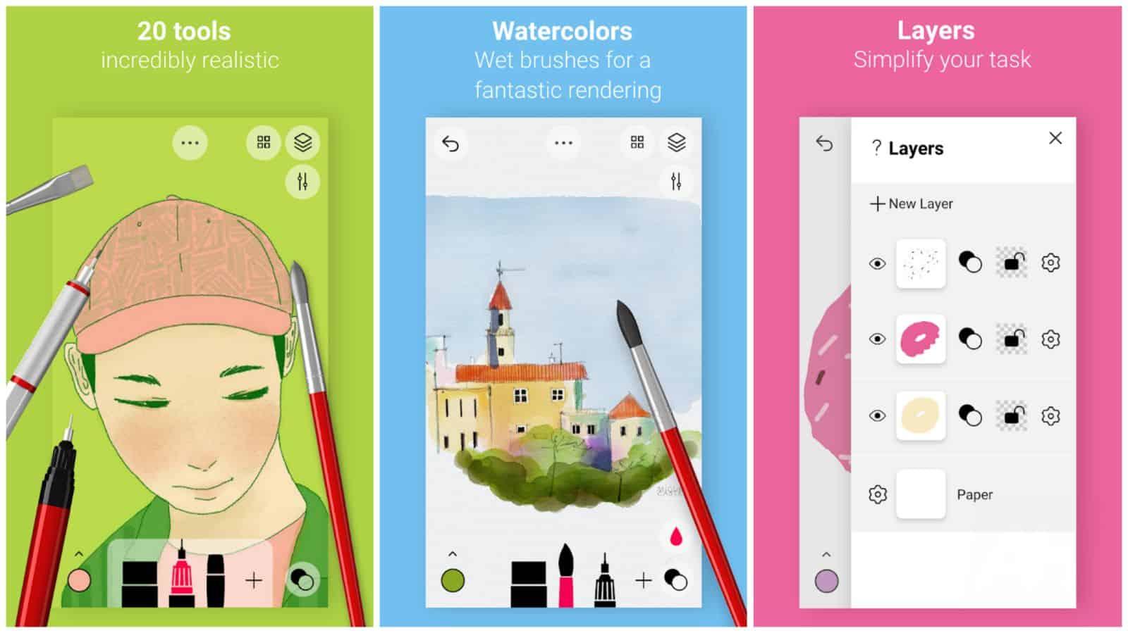 Tayasui Sketches app grid image